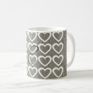 かわいく暖かいWooly居心地のよくモノグラムのなマグ コーヒーマグカップ