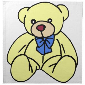 かわいく柔らかく愛らしく黄色いテディー・ベア ナプキンクロス