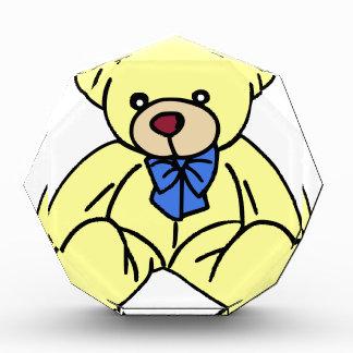 かわいく柔らかく愛らしく黄色いテディー・ベア 表彰盾