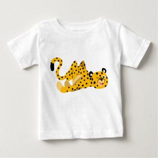 かわいく熱血な漫画のチータの赤ん坊のTシャツ ベビーTシャツ