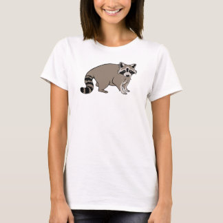 かわいく現実的な漫画のアライグマ Tシャツ