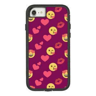 かわいく甘いピンクのEmoji愛ハートのキスパターン Case-Mate Tough Extreme iPhone 8/7ケース