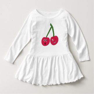 かわいく生意気なさくらんぼの幼児の服 ドレス