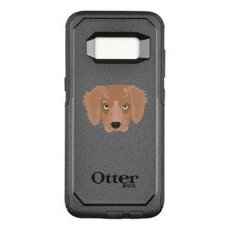 かわいく生意気な子犬 オッターボックスコミューターSamsung GALAXY S8 ケース