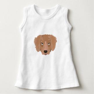 かわいく生意気な子犬 ドレス