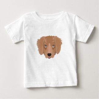 かわいく生意気な子犬 ベビーTシャツ