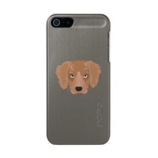 かわいく生意気な子犬 メタリックiPhone SE/5/5sケース