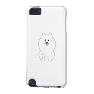 かわいく白い犬。 スピッツかPomeranian. iPod Touch 5G ケース
