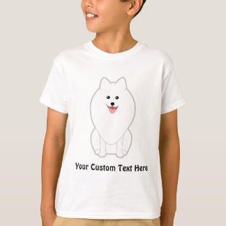 かわいく白い犬。 スピッツかPomeranian. Tシャツ