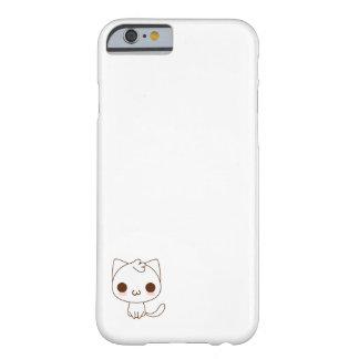 かわいく白い猫 BARELY THERE iPhone 6 ケース