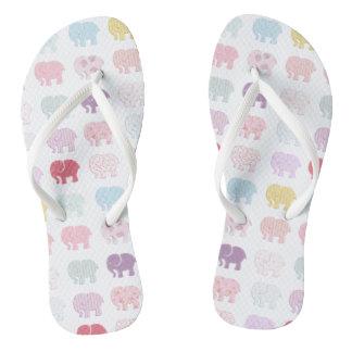 かわいく粋でガーリーで多彩な象 ビーチサンダル