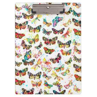 かわいく粋な水彩画は蝶をはね飛ばします クリップボード