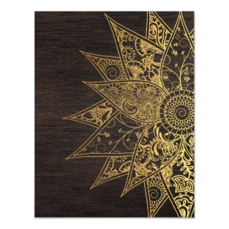 かわいく粋な花のhennaの手描きのデザイン カード