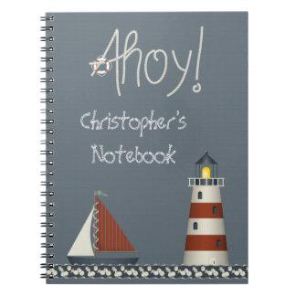 かわいく航海のなAhoyヨット及び灯台ノート ノートブック
