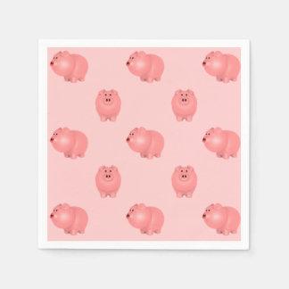かわいく豚のようなパターン: あなた自身の背景を選んで下さい スタンダードカクテルナプキン