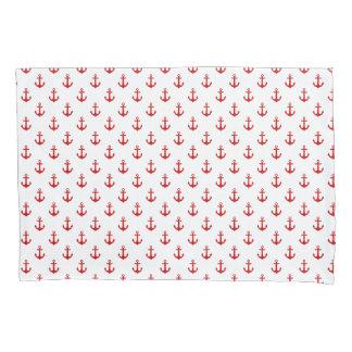 かわいく赤いいかりパターン 枕カバー