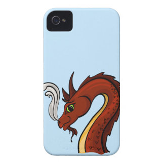 かわいく赤いドラゴンの頭部 Case-Mate iPhone 4 ケース