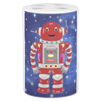 かわいく赤いロボットバスセット バスセット