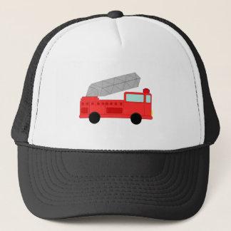 かわいく赤い普通消防車 キャップ