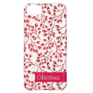かわいく赤い秋の果実 iPhone5Cケース