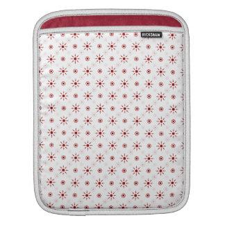 かわいく赤い雪片 iPadスリーブ