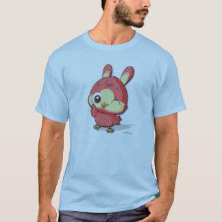 かわいく赤い鳥のティーのおもしろいなマンガのキャラクタのTシャツ Tシャツ