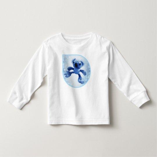 かわいく雪が多い雨滴の甘いベビーのコアラ トドラーTシャツ