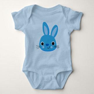 かわいく青いウサギのボディスーツ ベビーボディスーツ