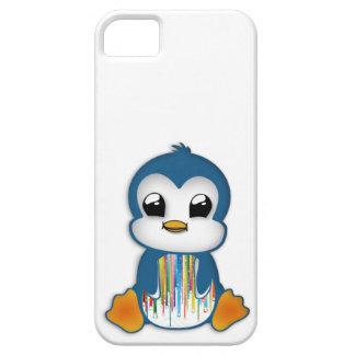 かわいく青いオレンジペンギン iPhone SE/5/5s ケース
