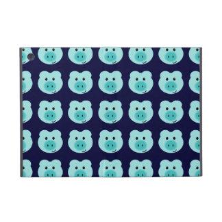 かわいく青いブタパターンiPad Miniケース iPad Mini ケース