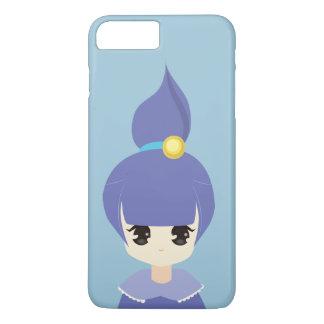 かわいく青いポニーテールの女の子 iPhone 7 PLUSケース