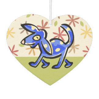 かわいく青い漫画犬、歩行の犬 カーエアーフレッシュナー