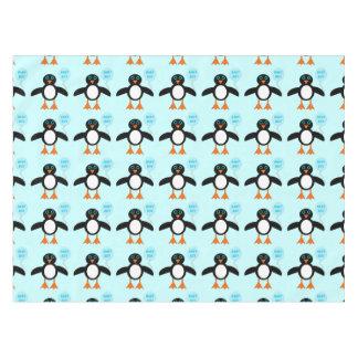 かわいく青い男の赤ちゃんのペンギンのテーブルクロス テーブルクロス