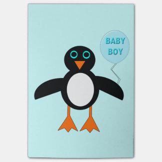 かわいく青い男の赤ちゃんのペンギンのポスト・イットのパッド ポストイット