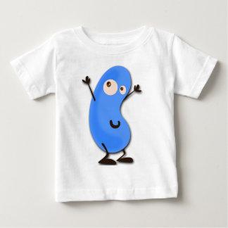 かわいく青い豆モンスター ベビーTシャツ