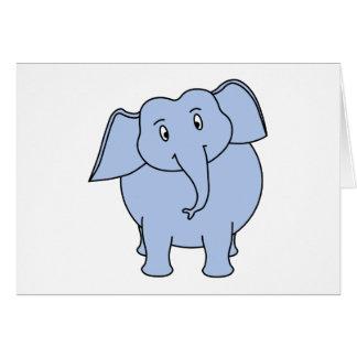 かわいく青い象の漫画 カード