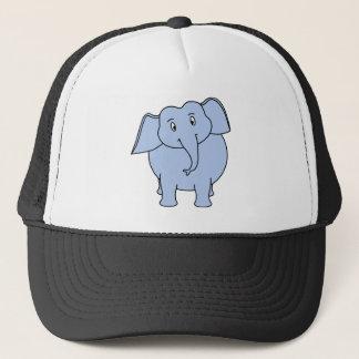 かわいく青い象の漫画 キャップ