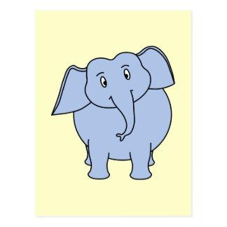 かわいく青い象の漫画 ポストカード