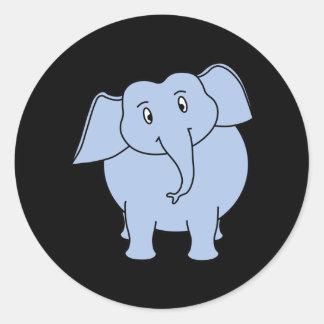 かわいく青い象の漫画 ラウンドシール