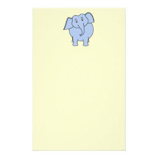 かわいく青い象の漫画 便箋