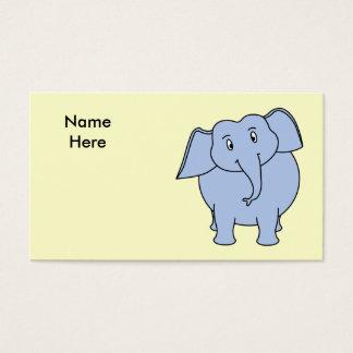 かわいく青い象の漫画 名刺