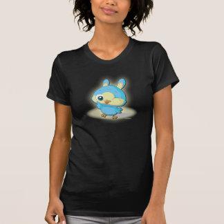 かわいく青い鳥のティーのおもしろいなマンガのキャラクタのTシャツ Tシャツ