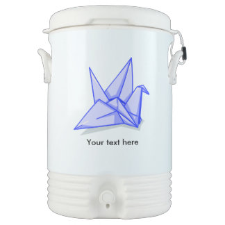 かわいく青いorigamiの紙クレーン ドリンククーラー