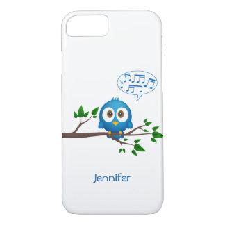 かわいく青いtwitterの鳥の漫画 iPhone 8/7ケース