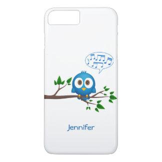 かわいく青いtwitterの鳥の漫画 iPhone 8 plus/7 plusケース