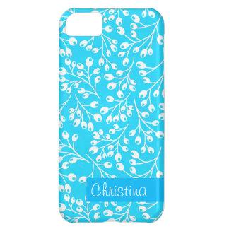 かわいく青および白い秋の果実 iPhone5Cケース