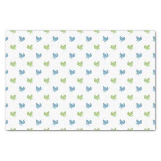 かわいく青および緑のベビーカーパターン 薄葉紙