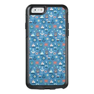 かわいく青く航海のな大尉の海上パターン オッターボックスiPhone 6/6Sケース