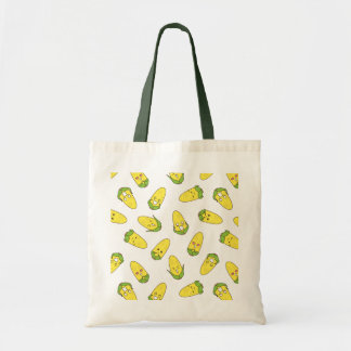 かわいく面白いトウモロコシの表現パターン トートバッグ