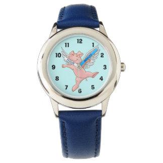 かわいく飛んでいるなブタの腕時計 腕時計